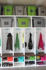 keeping it simple diy garage mudroom lockers with lots of