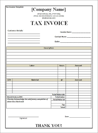 Download Tax Invoice Template Word Doc Images