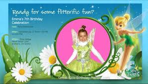 Tinkerbell Invitations Printable Tinkebell Invitations