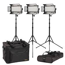 Led Light Kit Mylo Soft Bi Color 3 Point Led Light Kit With 3 X Msb8 Includes Dv Batteries Stands And Bags