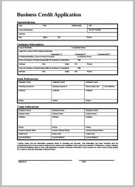 8 Credit Application Form Templates Pdf Free Premium