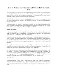 How To Make A Really Good Resume Brilliant How To Do A Good Resume Example Top Ten Format