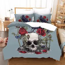 Designer Bed Sheet Set Us 32 32 31 Off Candy Skull Comfortable King Size Bedding Set Bed Linen Sheet Rose Designer Bedding Sets Duvet Cover Pillowcase Bedclothes F In