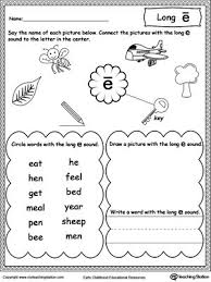See our extensive collection of esl phonics materials for all levels, including word lists, sentences, reading passages, activities, and worksheets! Long E Sound Worksheet Vowel Worksheets Phonics Worksheets Long Vowel Worksheets