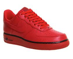 nike shoes air force red. genuine nike air force one (m) gym red m - unisex sports 2003162166 shoes