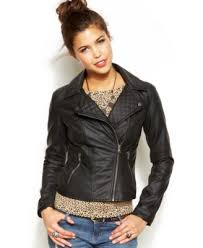 American Rag Faux-Leather Moto Jacket - Juniors' Clothing ... & Celebrity Pink Faux-Leather Quilted Moto Jacket Adamdwight.com