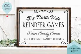 Generate thousands of qr codes (up to 100 for free) and download them in a zip archive. Christmas Sign Svg Reindeer Games Graphic By Lettershapes Creative Fabrica