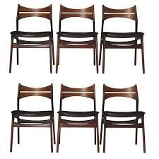 6 erik buck danish rosewood dining chairs