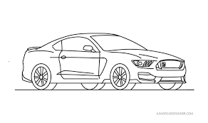 Mustang Designer How To Draw A Ford Shelby Gt350 Mustang Drawing Car