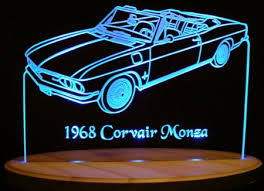 cheap 1968 corvair for 1968 corvair for deals on get quotations · 1968 chevy corvair monza convertible 13 acrylic lighted edge lit led car sign light