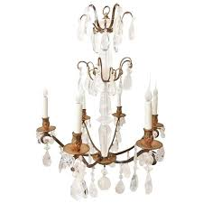 modern rock crystal chandelier bronze amp rock crystal 6 arm chandelier from a unique collection of