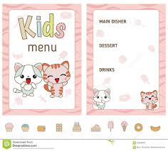 restaurant menu maker free free restaurant menu maker online great kids menu design stock