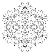 Coloring Pages Mandala Flower Cool Mandala Coloring Pages Printable
