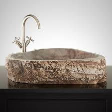 selmier natural river stone vessel sink