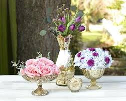 gold mercury glass vases create scenic dimension in your using our full collection of table decor bud