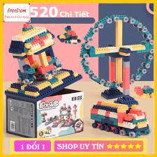 Bộ Lego Lắp Ráp Gồm 520 Chi Tiết. Lego Xép Hình Đồ Chơi Cho Bé BUILDING  BLOCK CAO CẤP giá cạnh tranh
