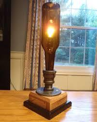 steampunk beer bottle lamp