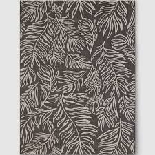 5 x 7 black and white rug leaves black outdoor rug 5x7 project 62 black white
