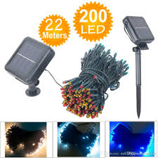 100 led 200 led holiday light outdoor 8 modes solar powered string light garden party