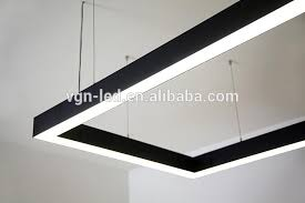 led linear light fixture 4ft 1 2m 40w 50w indoor wall led recessed light suspended linear