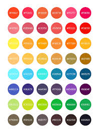 Color Chart Cmyk Design Color Code Palette Template For Free
