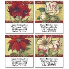 Poinsettia Designs Poinsettia Select Return Address Labels 4 Designs