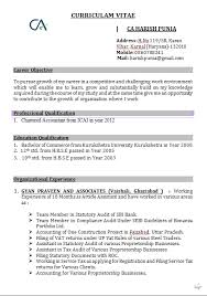 Resume Format For Accountant Freshers Resume Template Ideas
