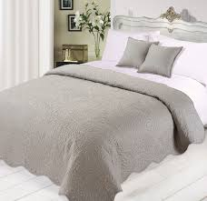 Charlotte Silvera 3pc Luxurious Quilted Bedspread Comforter ... & Charlotte Silvera 3pc Luxurious Quilted Bedspread Comforter Cushions Set  Black White And Silver Adamdwight.com