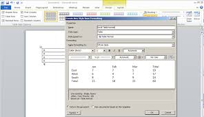 Scroll Template Microsoft Word Defining Table Styles Scroll Office