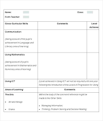 Account Report Template