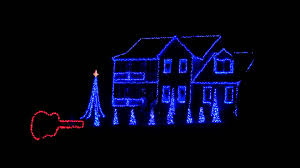 2011 Blue Christmas Porky Pig Brown Family Christmas Light Show HD ...