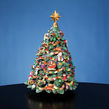 Jingle Bell Rotating Christmas Tree Figurine