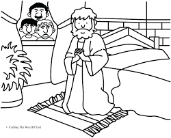 Child Praying Coloring Page Lds Pages Prayer Prayed A Crafting The