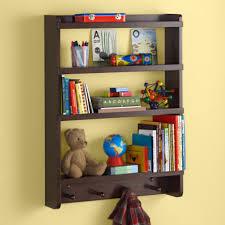 Kids Wall Rack: Espresso Hanging Wall Book Shelf - Espresso Straight &  Narrow Wall Rack