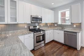 Kitchens With White Countertops Kitchen All White Kitchen Minimalist White Floating Cabinets In