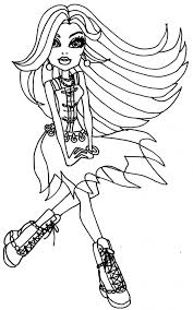 Free Monster High Coloring Pages For Kids Coloringstar