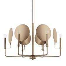capital lighting fixture company wells aged brass six light chandelier