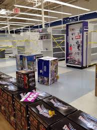 they are moving all the stock that s left to the front of the s and blocking off the empty es so nothing is where it is supposed to be