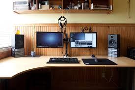 dual desk bookshelf small. Stylish Desk For Dual Monitor Setup Windows Workstation Megadesk Multi Monitors Bookshelf Small E