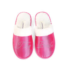 details about personalised luxury pink crystal spa slippers hen party honeymoon bride gifts