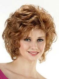 cutest curly short hairstyle for round faces