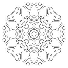 Easy Flower Mandala Coloring Pages Mandala Coloring Pages Printable ...