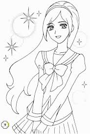 Cute Anime Coloring Pages Anime Chibi Coloring Pages For Girls Free
