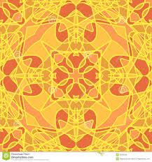 Oranje Oosterse Naadloos Vector Illustratie Illustratie Bestaande