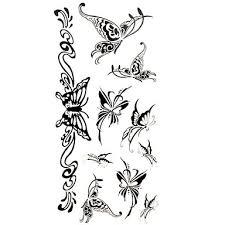 094 1 Pcs Dočasné Tetování Voděodolné Papír Tetovací Nálepky Vzor Spodní část Zad Waterproof