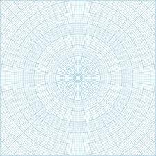 Free Printable Polar Coordinate Graph Paper Blue Vector