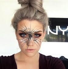 halloween spider web makeup via