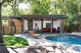 open pool house. Open Pool House Contemporary With Roofline Cushion Back Sofas And Sectionals