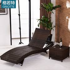 get ations plastic rattan outdoor lying bed beach swimming pool gel casual outdoor courtyard balcony wicker chair recliner