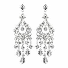 swarovski crystal rhinestone chandelier earrings e 9685 silver or gold